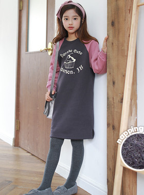 """Cupcake brushed dress <br> <font color=""""#9f9f9f"""">♡ warm brushed lining ♡ <br> * I want to wear every day *</font>"""