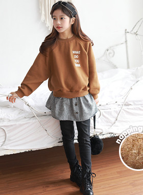 "Soymilk brushed shirt one-to-one <br> <font color=""#9f9f9f"">Design that layered check shirt <br> * Feel the seasonal feeling of beautiful Brown Color *</font>"