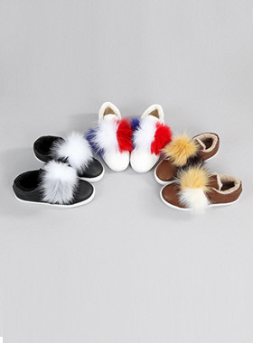 Lido color fur shoes