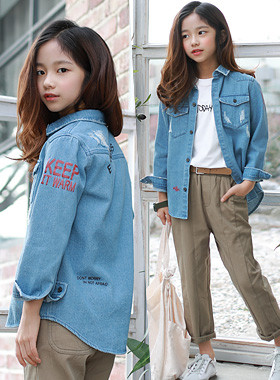 Sweatshirt denim shirt