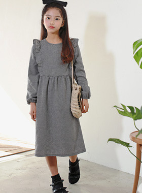 Hazel Frill Check Dress