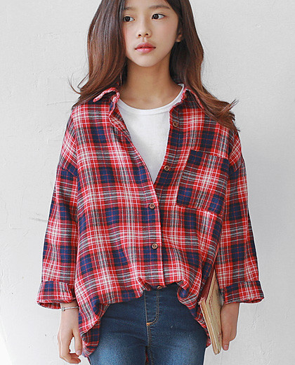 Radi Long Check Shirt