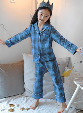 Tartan pajama top and bottom SET