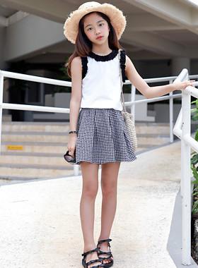 Cindy ruffle skirt top and bottom SET