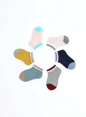 Two-tone point socks SET