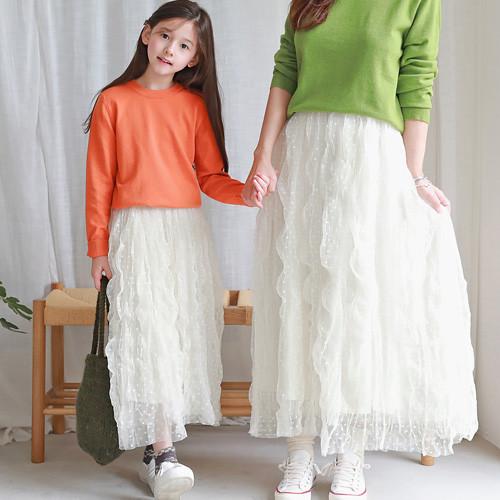 Office dot skirt long skirt
