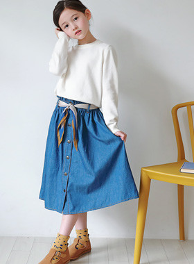 Melrose denim long skirt