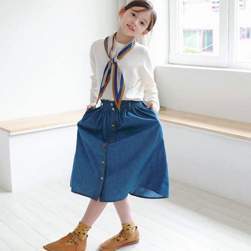 Melrose denim long skirt