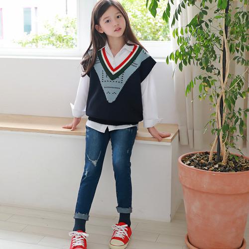 Sub V neck color knit best