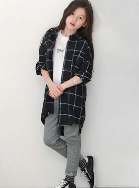 Tony check long shirt