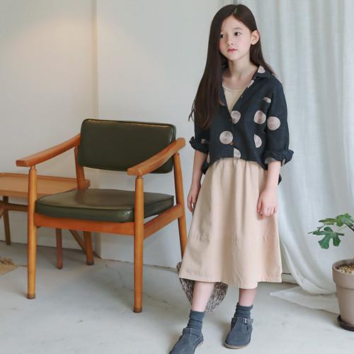 LINKO embroidered shirt long skirt SET