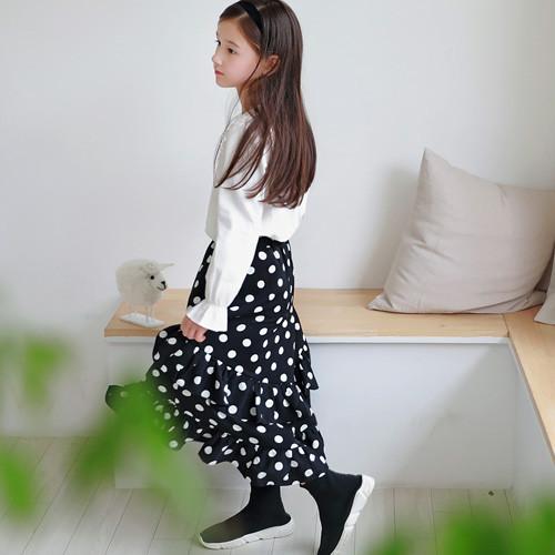 Floor frill do long skirt