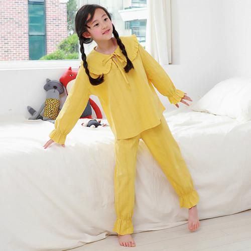 Frill color pajamas SET